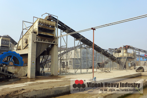Lime stone sand making production line