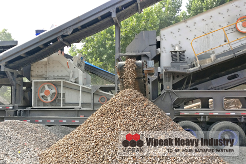 Combined Mobile Impact Crushing Plant