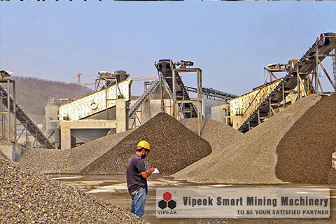 Bluestone Crushing Production Line Site