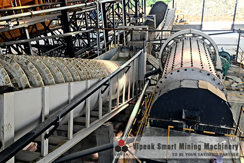 Cement Ball Mill Processing Site
