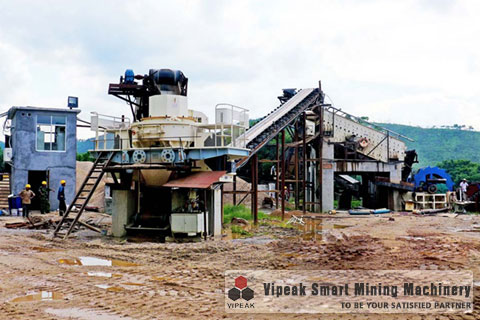 Weathered Sand Making Production Line Site