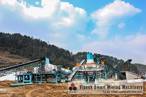 The River Stone Sand Making Machine Production Line Site