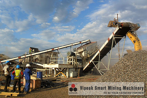 Cone Crusher Series Mobile Crushing Plant Site in Saudi Arab