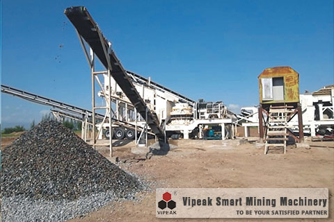 Combined Mobile Cone Crushing Plant